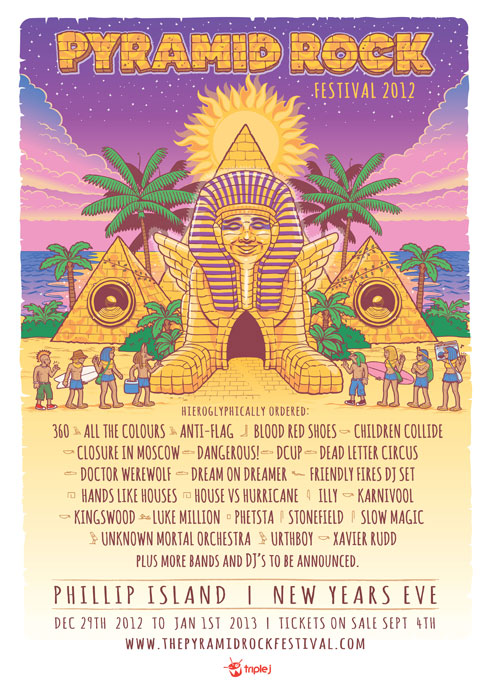 Pyramid Rock Festival 2012 Line Up